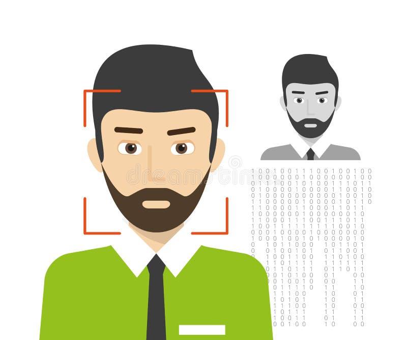 Identificación de la cara stock de ilustración