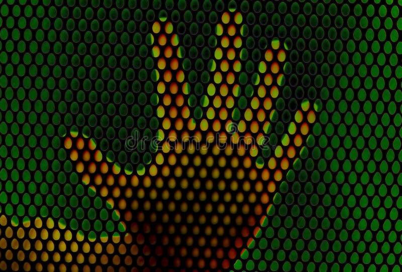 : Identificación de la impresión de la mano para la seguridad libre illustration