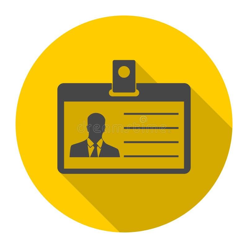 Identificación de la licencia del ` s del conductor, identificación de la insignia de la prensa o icono del carné de identidad co stock de ilustración
