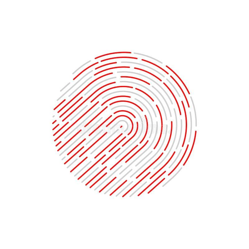 Identificación del tacto fingerprint stock de ilustración