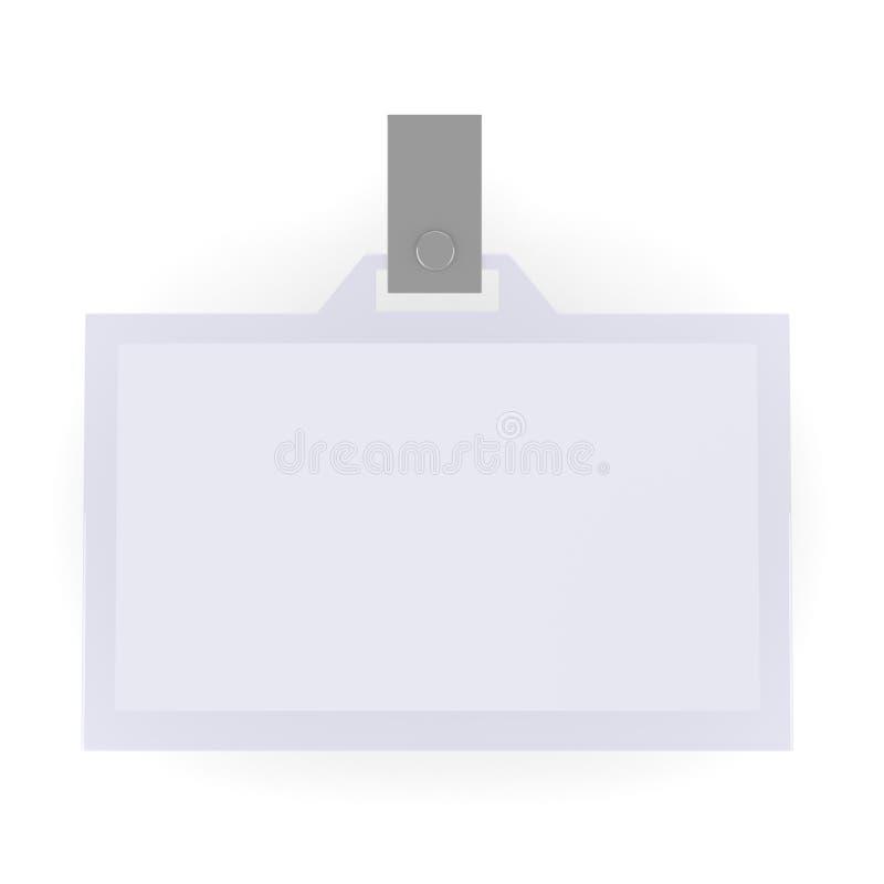 Identificación en blanco ilustración del vector
