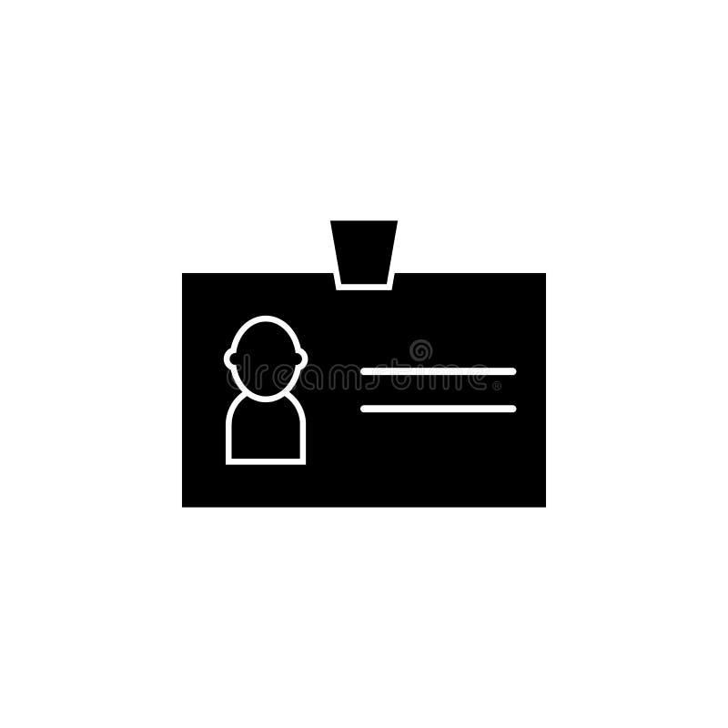Identificación, icono personal de la imagen Las muestras y los símbolos se pueden utilizar para la web, logotipo, app móvil, UI,  ilustración del vector