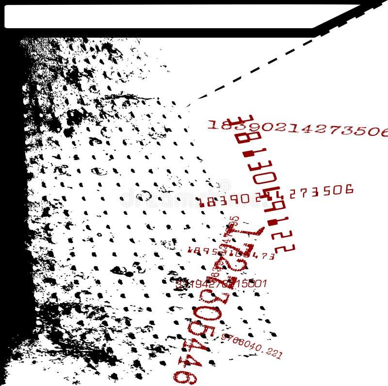Identificación numérica Grunge de la matemáticas ilustración del vector
