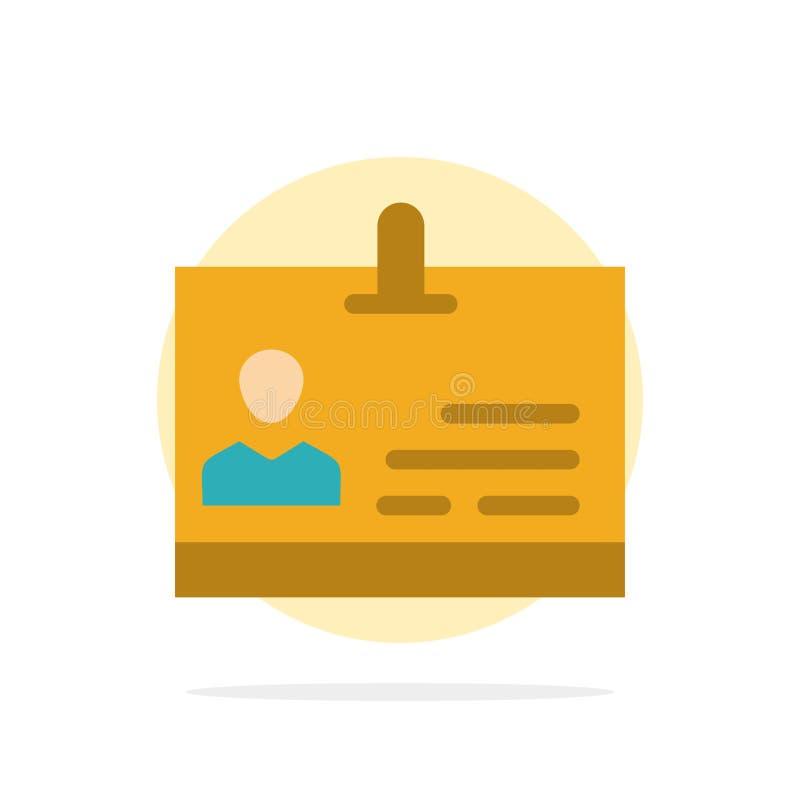 Identificación, tarjeta, identidad, icono plano del color de fondo del círculo del extracto de la insignia stock de ilustración