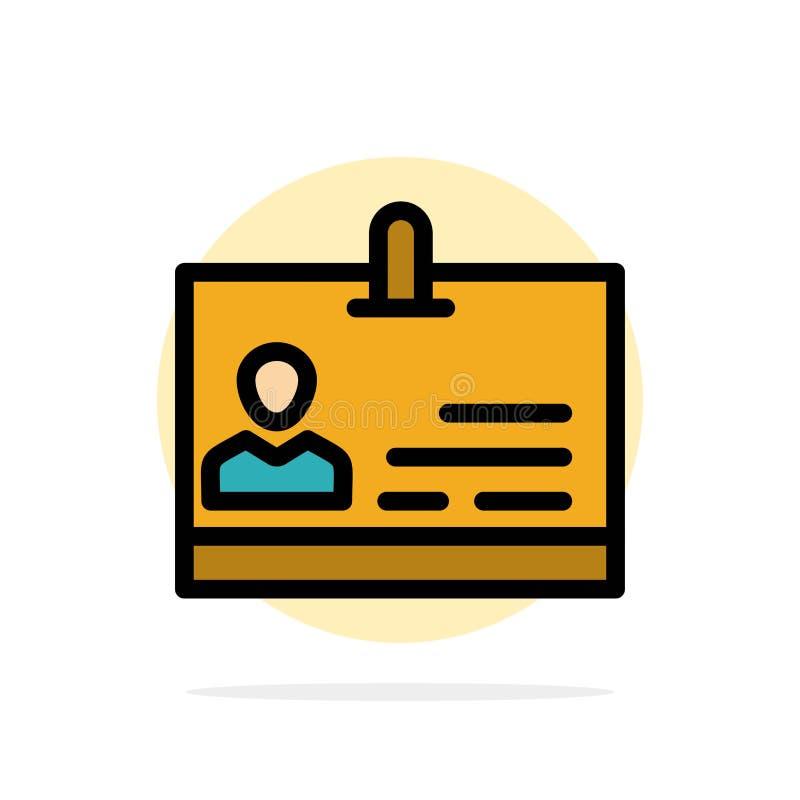 Identificación, tarjeta, identidad, icono plano del color de fondo del círculo del extracto de la insignia libre illustration