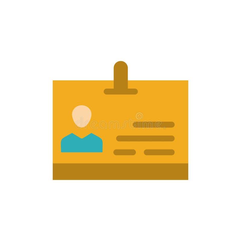 Identificación, tarjeta, identidad, icono plano del color de la insignia Plantilla de la bandera del icono del vector libre illustration