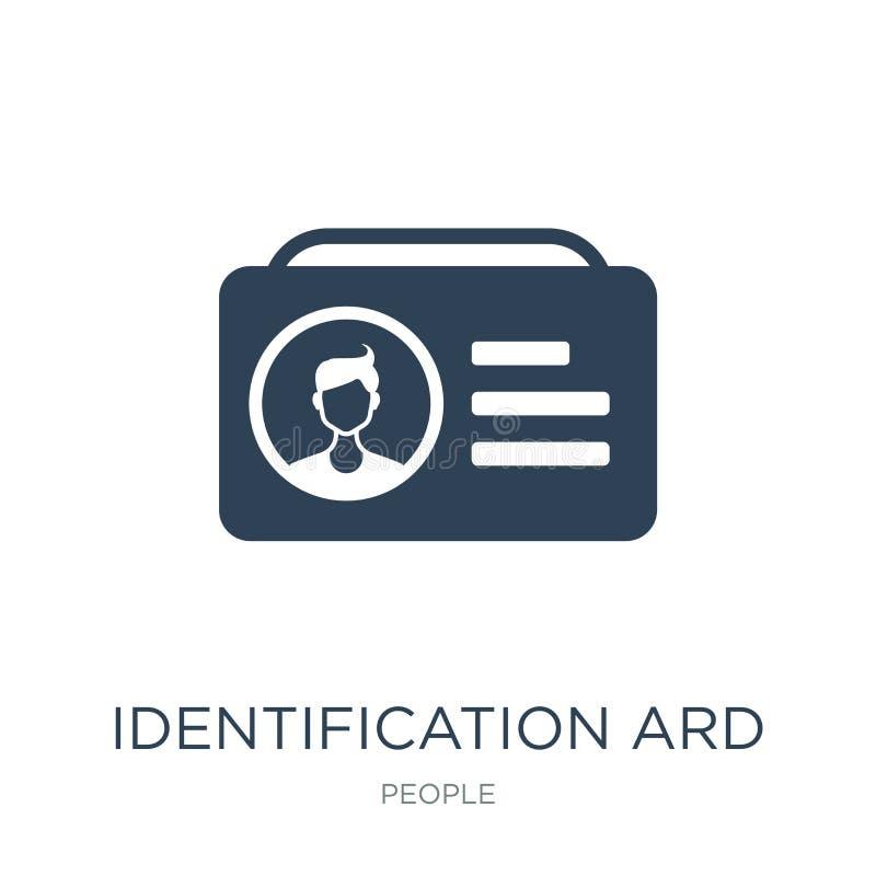 identificatie ard pictogram in in ontwerpstijl identificatie ard pictogram op witte achtergrond wordt geïsoleerd die identificati royalty-vrije illustratie