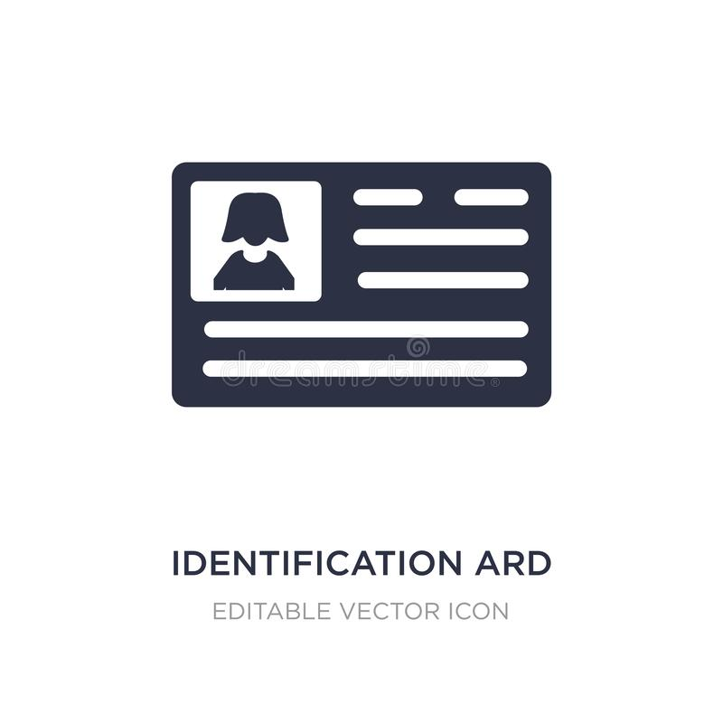 identificatie ard pictogram op witte achtergrond Eenvoudige elementenillustratie van Mensenconcept vector illustratie