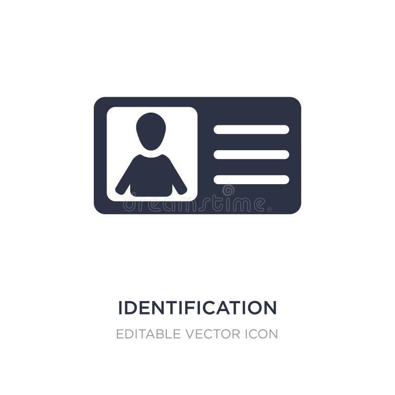 identificatiekaart met beeldpictogram op witte achtergrond Eenvoudige elementenillustratie van Mensenconcept royalty-vrije illustratie