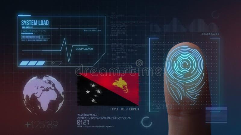 Identificatiesysteem van het vingerafdruk het Biometrische Aftasten De Nationaliteit van Papoea-Nieuw-Guinea royalty-vrije stock fotografie