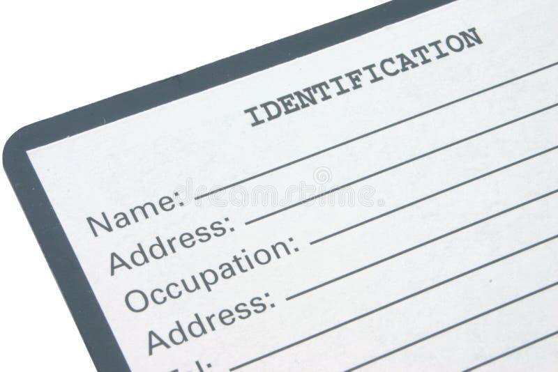 Identification #2 image libre de droits