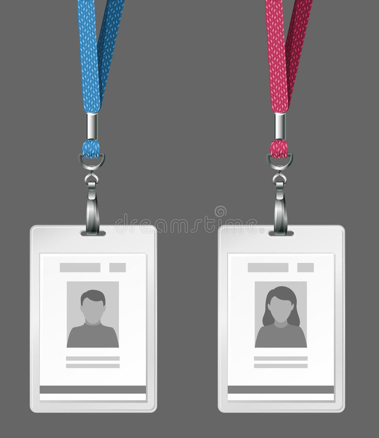 Free Identification Cards Template Royalty Free Stock Photo - 13057465
