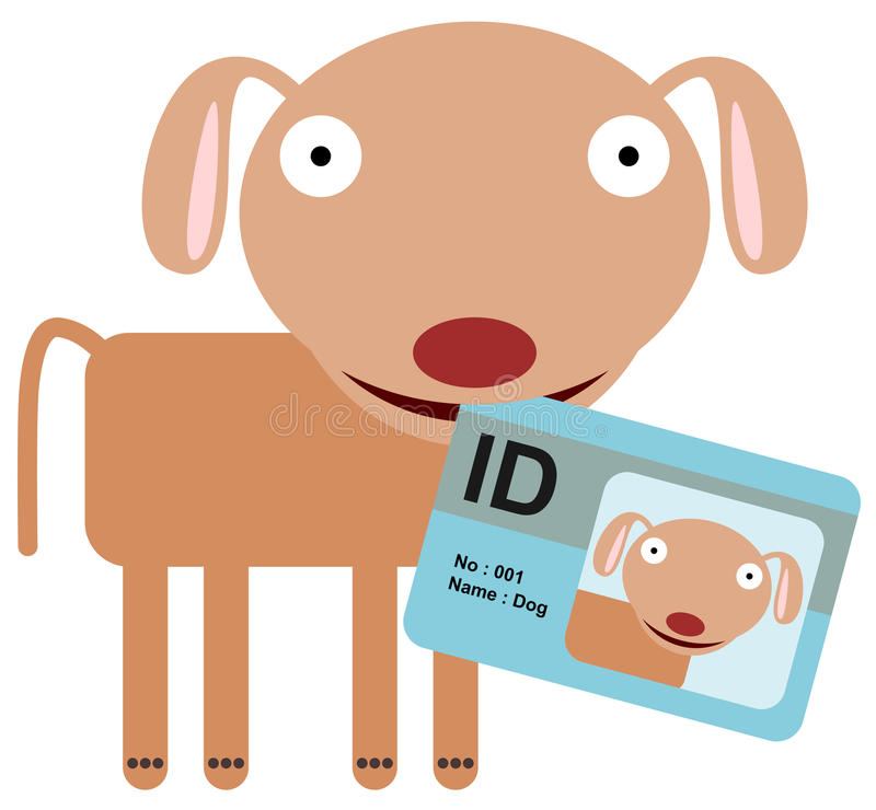 Identification d'animal illustration libre de droits