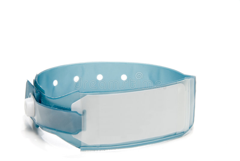identification d'hôpital de bracelet photo stock