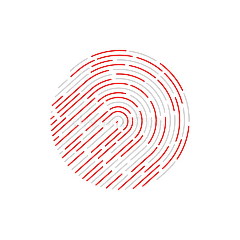 Identification de contact fingerprint illustration stock