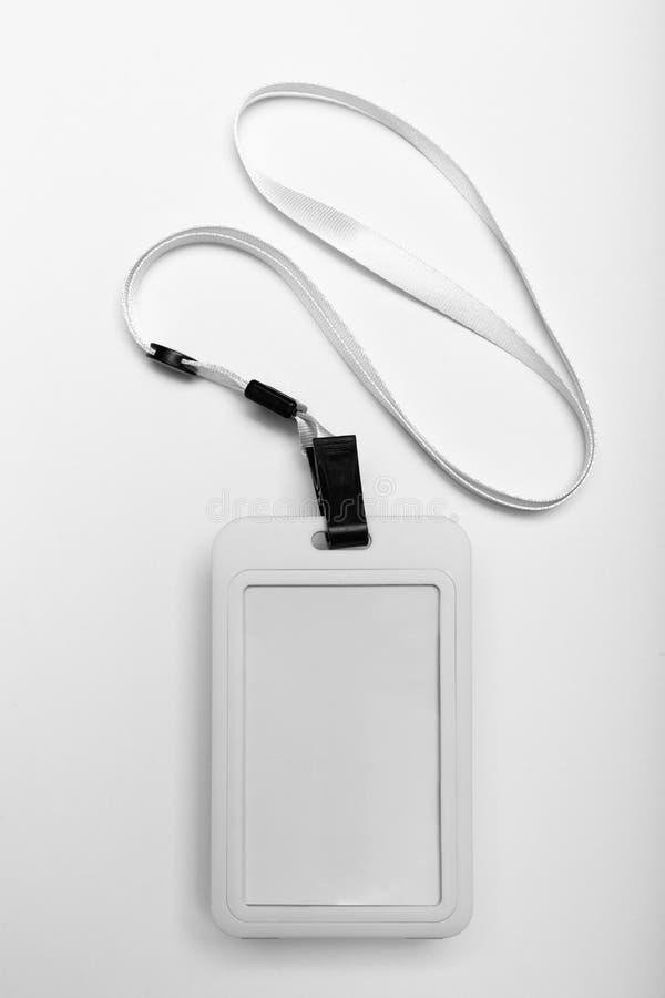Identification de lanière d'insigne, passage vide d'identification Carte en plastique personnelle Autorisation d'affaires photo stock