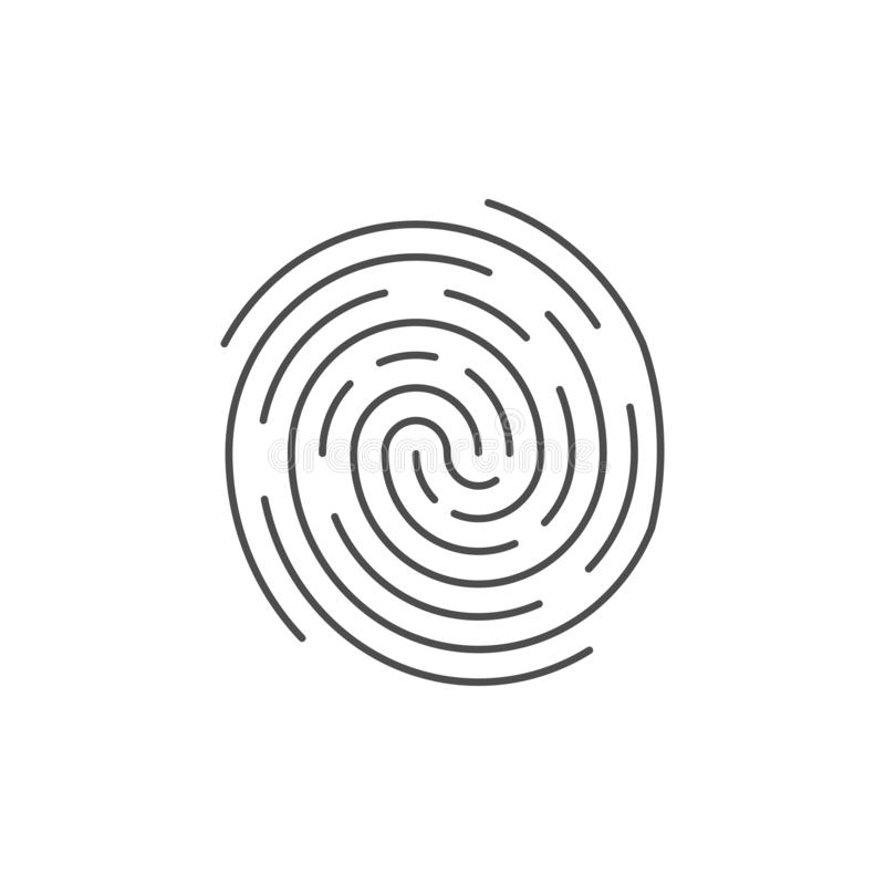 Identification Symbol  Fingerprint Icon  Vector