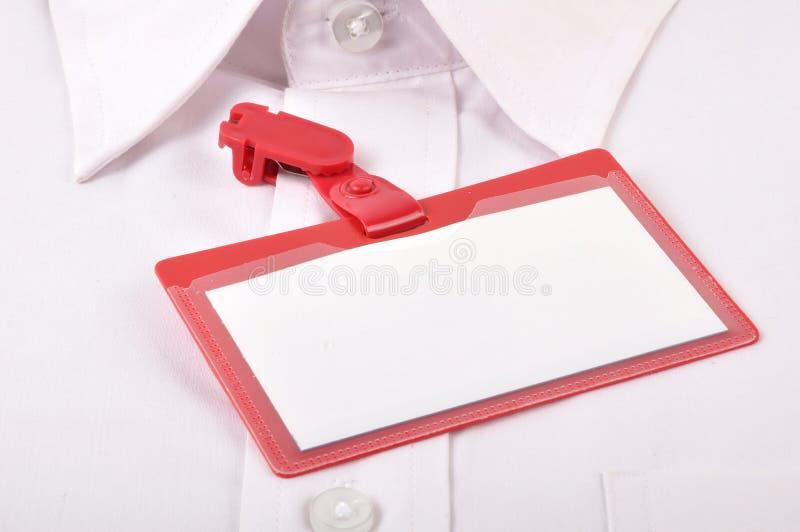 Identificazione in bianco fotografia stock libera da diritti