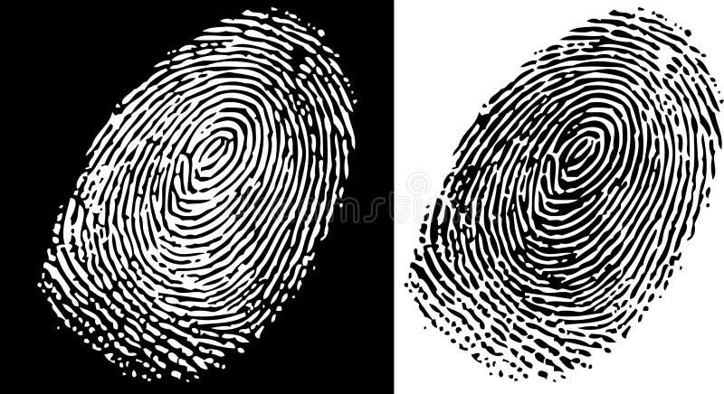 Identifiera med fingeravtryck royaltyfri illustrationer
