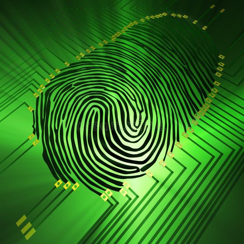 identifiera med fingeravtryck royaltyfria foton