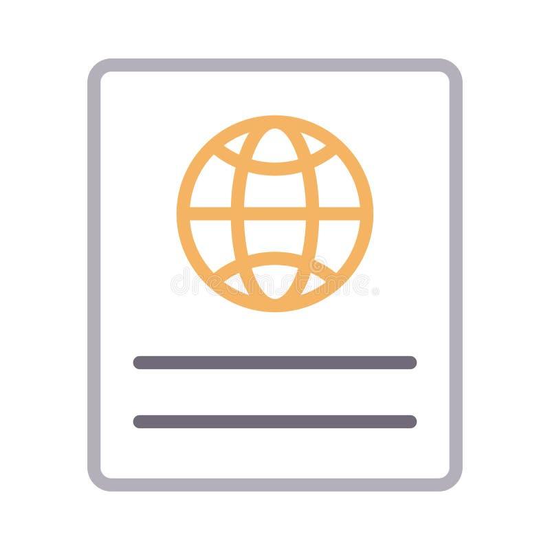 Identifikations-Farblinie Vektorikone stock abbildung