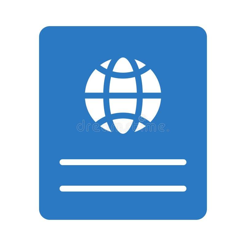 Identifikations-Glyphfarbvektorikone lizenzfreie abbildung