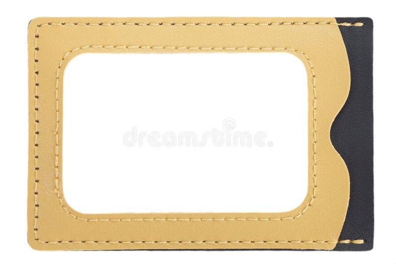 Identifikations-Kartenhalterleder stockfotos