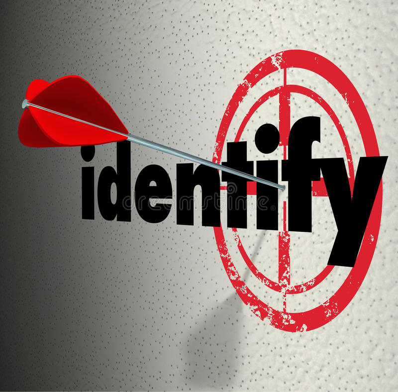 Identify Word Arrow Target Diagnose Pinpoint Define ...