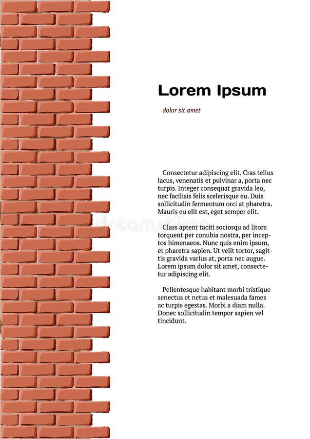 Identità del muro di mattoni illustrazione vettoriale