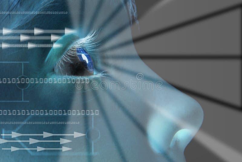 Identità di esplorazione dell'iride immagine stock libera da diritti