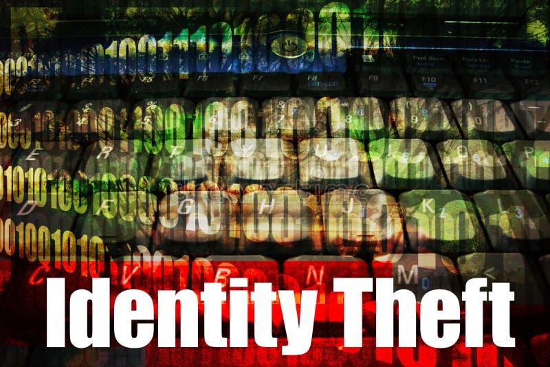 Identitäts-Diebstahl-heißes Onlineweb-Sicherheits-Thema stock abbildung
