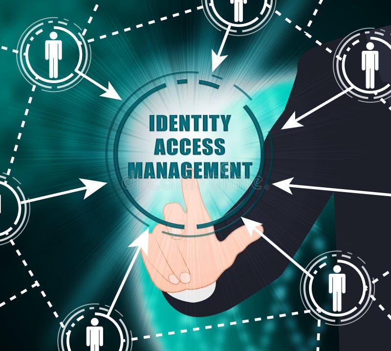 Identitäts-Zugangs-Management-Fingerabdruck-Eintritts-2d Illustration vektor abbildung