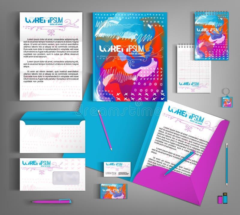 Identité d'entreprise lumineuse Calibre editable de vecteur Partie de 2 illustration libre de droits