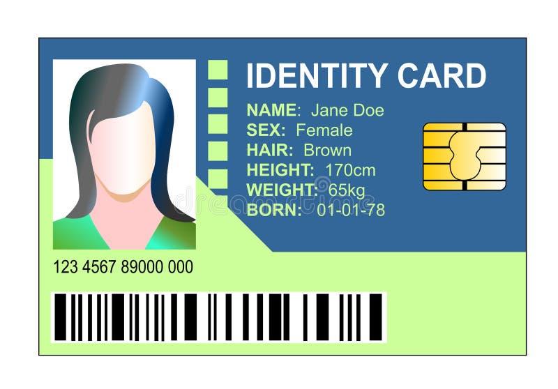 identité de carte illustration libre de droits
