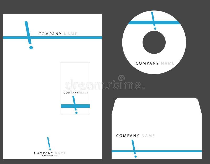 Identité de corporation illustration de vecteur