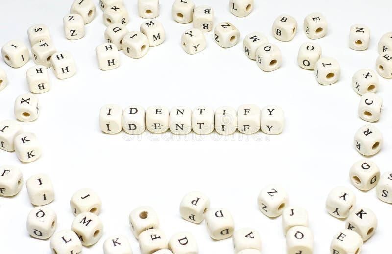 Identité en bois d'ABC de terme de gestion de ressources humaines image stock
