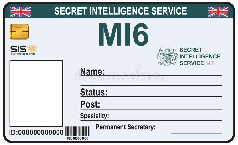 Identiteit een geheimagent van MI 6 royalty-vrije illustratie