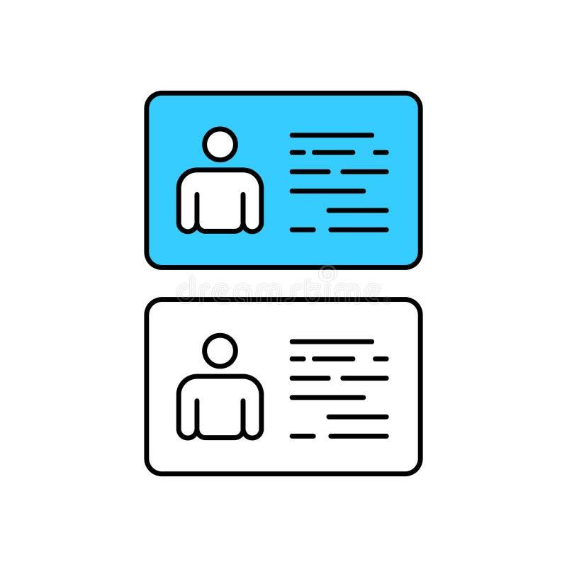 Identiteitskaart en Identificatiekaart Zaken identiteit Vectorillustraation stock illustratie