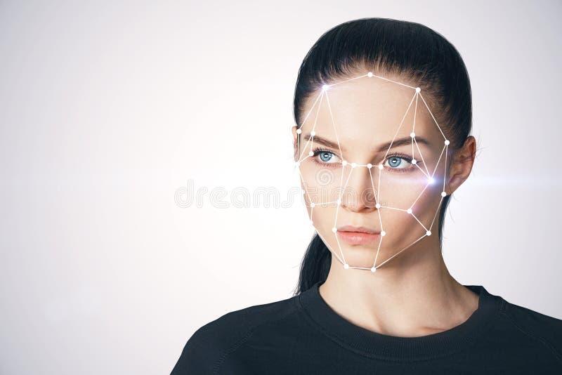 Identiteitskaart en toekomstig concept stock afbeelding