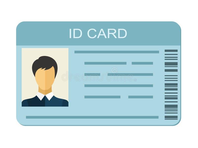 Identiteitskaart op witte achtergrond Bedrijfsidentificatiepictogram vector illustratie