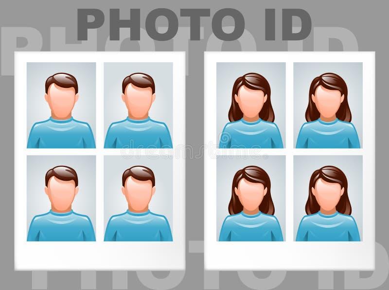 Identiteitskaart van de foto vector illustratie