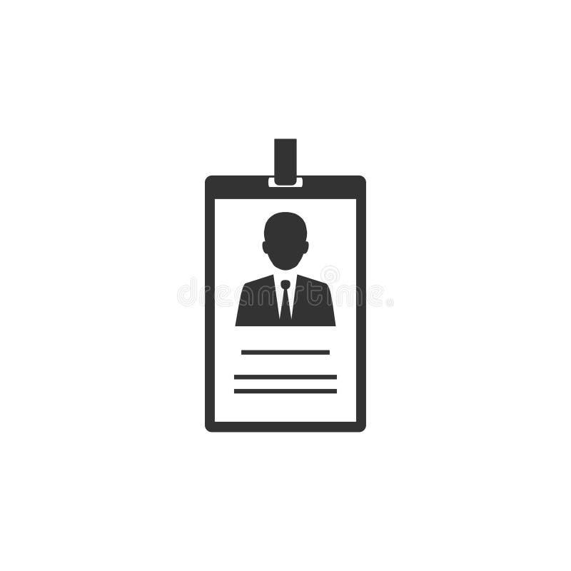Identiteitskaartpictogram Vectorillustratie, vlak ontwerp royalty-vrije illustratie