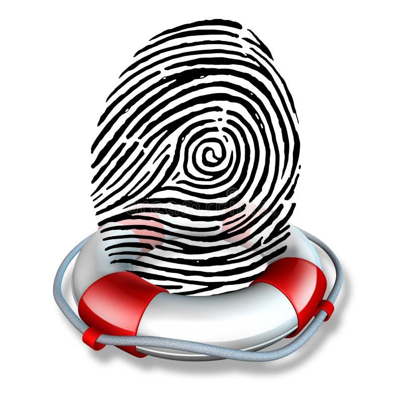Identiteitsveiligheid stock illustratie