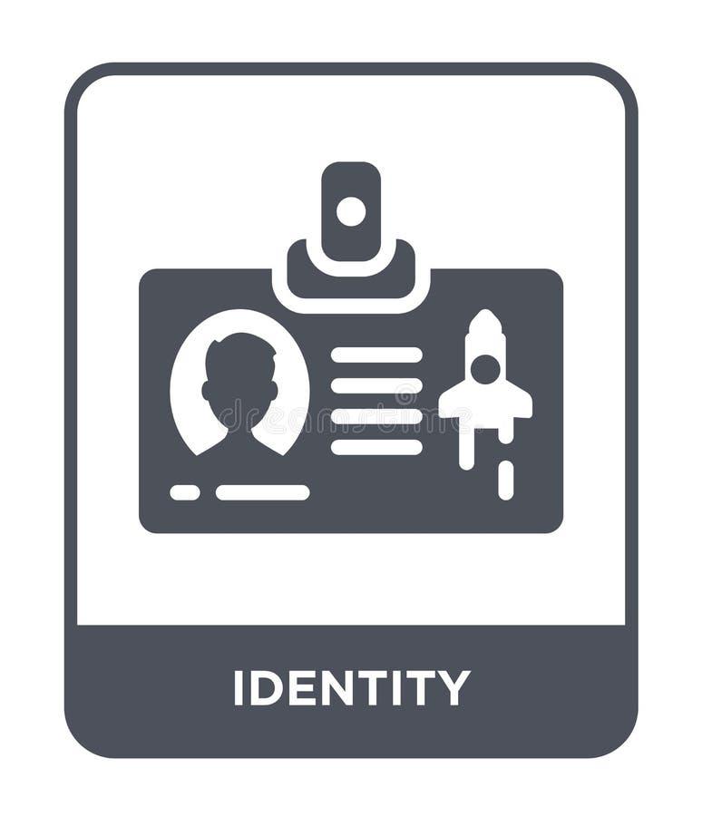 identitetssymbol i moderiktig designstil identitetssymbol som isoleras på vit bakgrund enkel och modern lägenhet för identitetsve royaltyfri illustrationer
