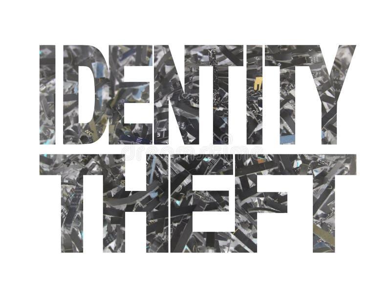 identitetstextstöld royaltyfri illustrationer