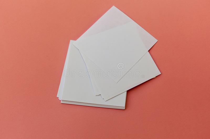 Identity design, corporate templates, company style, set of booklets, blank white folding paper flyer stock photography