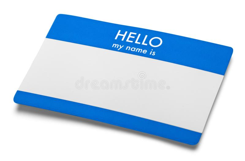 Identity. Hello my Name Tag is Label School Reunion royalty free stock photography