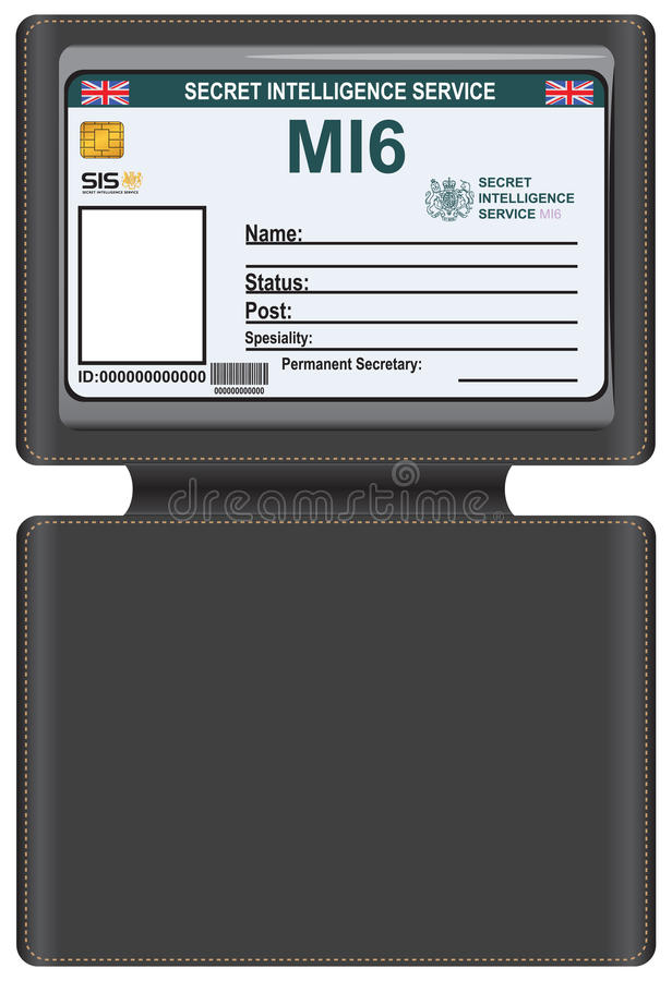 Free Identity MI6 In A Leather Carrying Case Stock Photography - 62174742