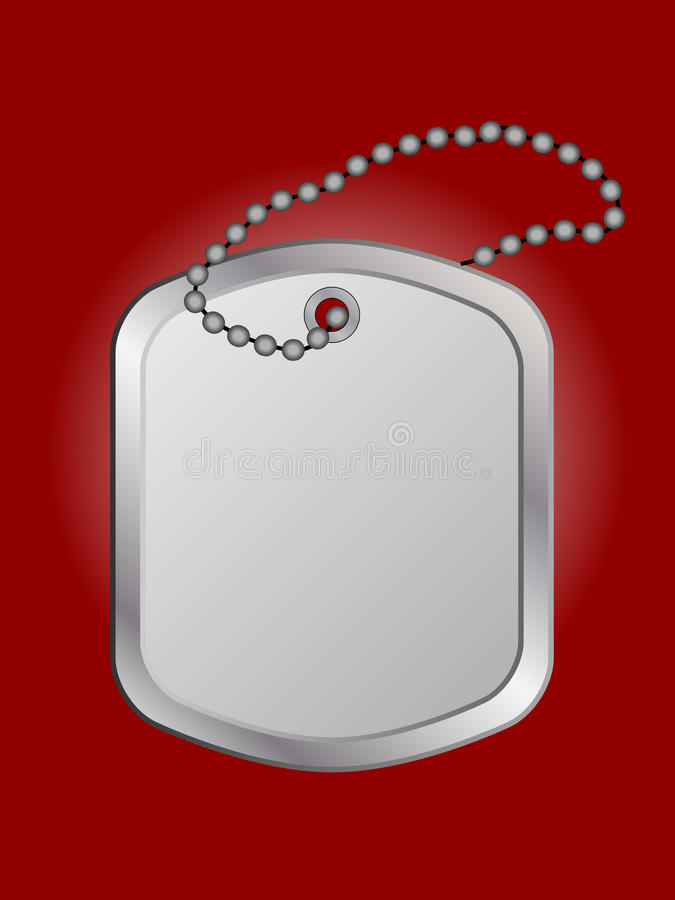 Identity plate (vector included). Identity plate or dog tag for design vector illustration