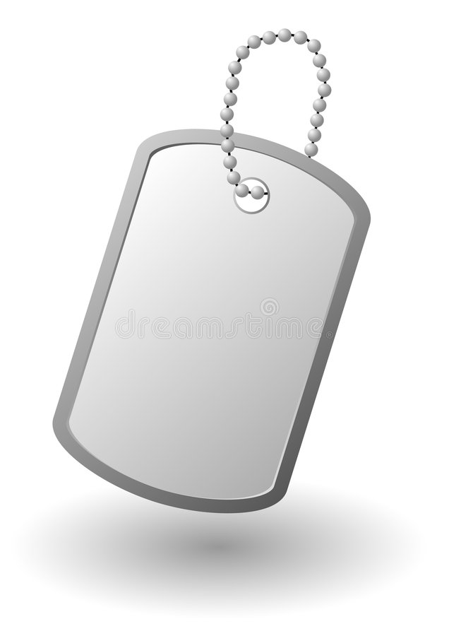 Download Identity tag stock vector. Image of design, army, military - 9282608